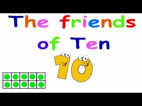The Friends of 10 (Ten frame version) - YouTube