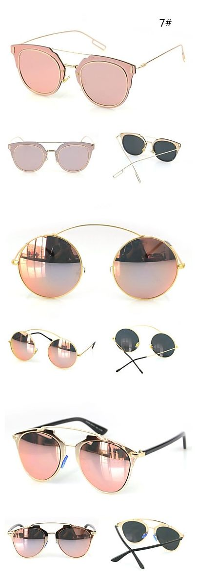 Mirrored fashionable sunglasses in pink. Pretty cool, right?