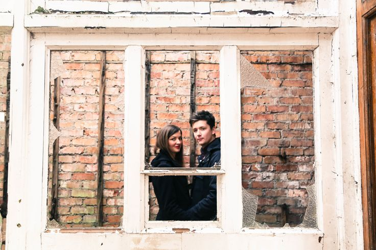 The Media Club // industrial engagement shoot... love in the rubble