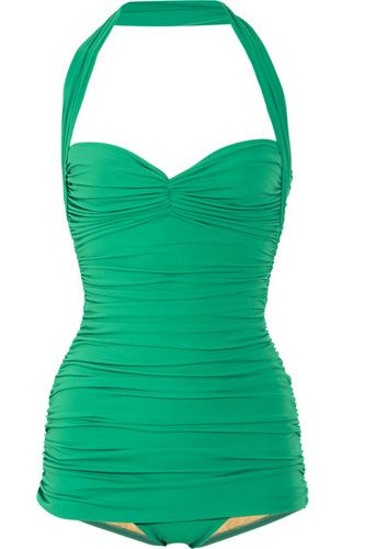 Vintage swimsuits are the Best love the color love the style!!! This was made for me!!!