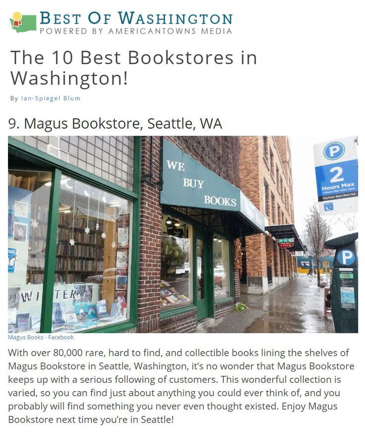 We're thrilled to be in the same company as the amazing bookstores on this Best of Washington list. What's the best book you've found at Magus?   #magusbooks #udistrict #ud #uw #huskies #seattle #nw #northwest #washington #independent #familyowned #localbusiness #shoplocal #shopsmall #smallbusiness #bookstagram #books #bookstore #booksforsale #usedbooks #bookworm #bibliophile #goread #reading #reader