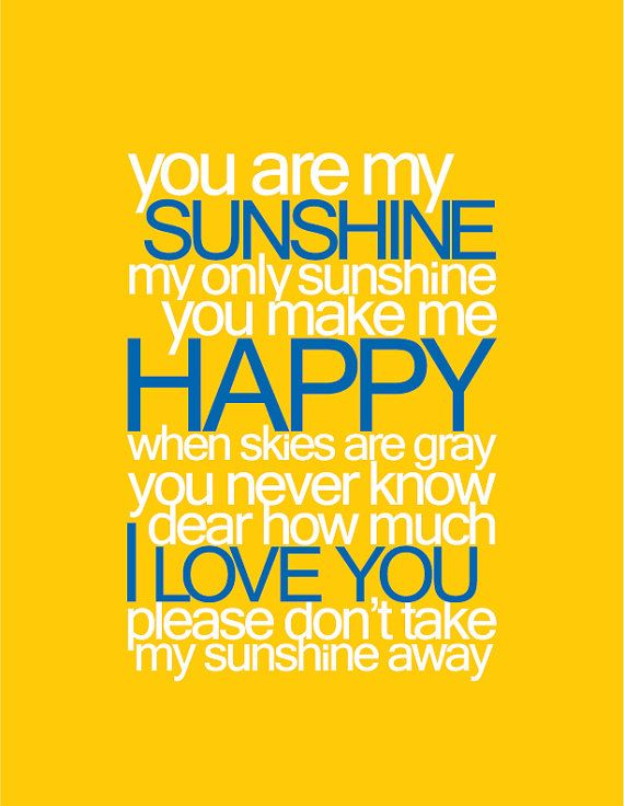 You Are My Sunshine Baby Nursery Printable Wall by LuxePrintables, $3.50