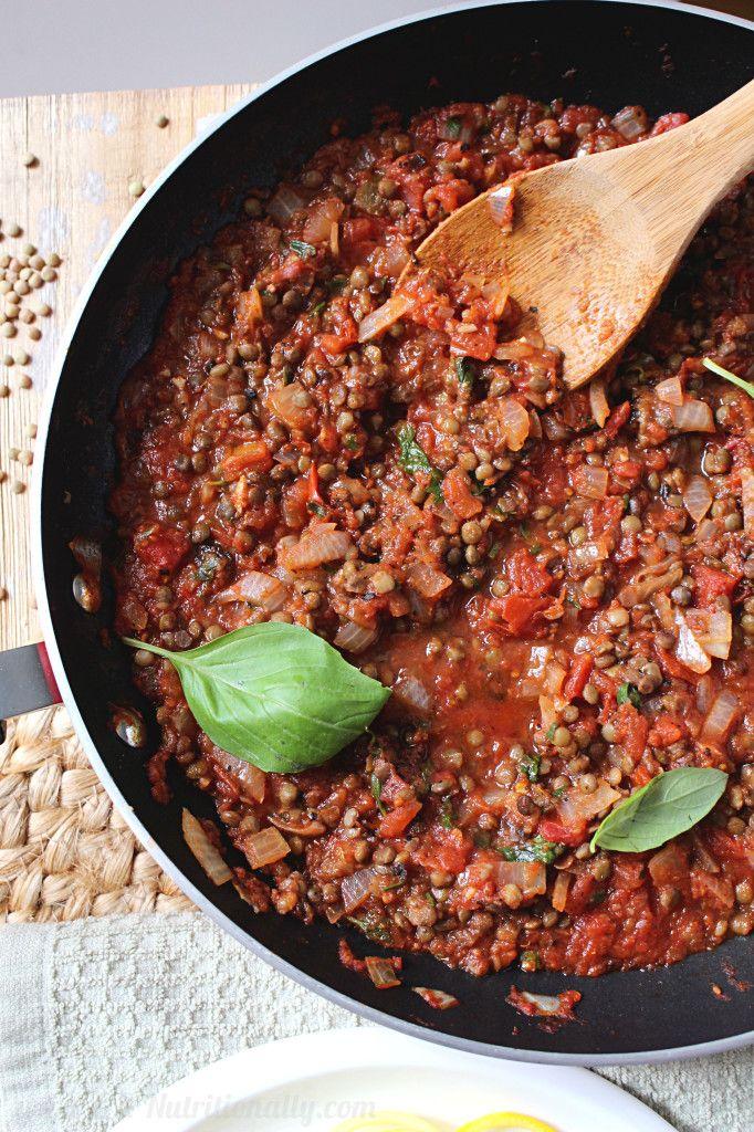 30 Minute Spicy Lentil Bolognese