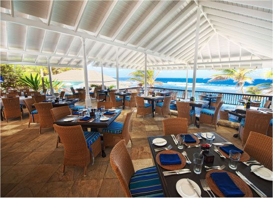 Atlantis Restaurant, Barbados is famous for casual gourmet dining and the breathtaking view of the Atlantic Ocean