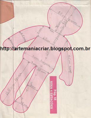 Artemaniacriar: Boneca de Pano Com PAP                                                                                                                                                                                 Mais