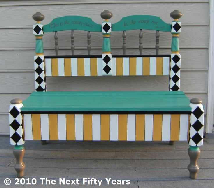 Best 25 benches from headboards ideas on pinterest headboard benches bed frame bench and - Funky bed frames ...