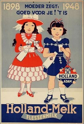 """VIntage Advertising....Mother Says It's Good For You""""....Holland-Milk"""