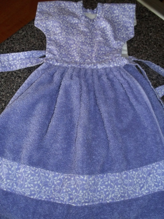 Towel Handmade Towel Dress Handmade Dress by SuzyQsVintageShop, $8.00