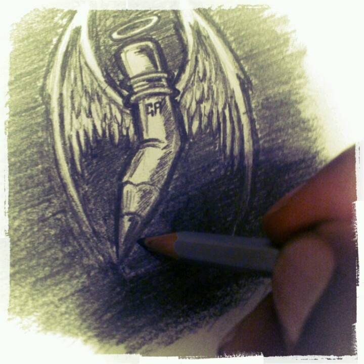 Nothing beats a sketch drawn with a good ol' HB pencil