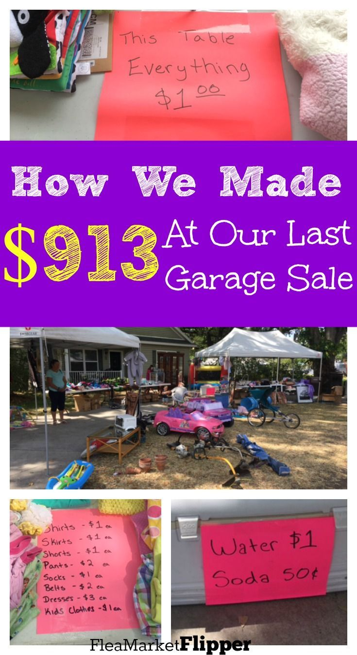 Make the Garage sale efforts WORTH IT at your next sale! They are a lot of work, so they might as well pay off! :)
