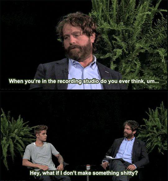 Zach Galifianakis gets serious with Justin Bieber…
