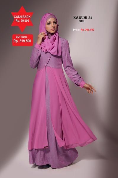Baju Longdress Pesta Ethica Kagumi 21 Pink