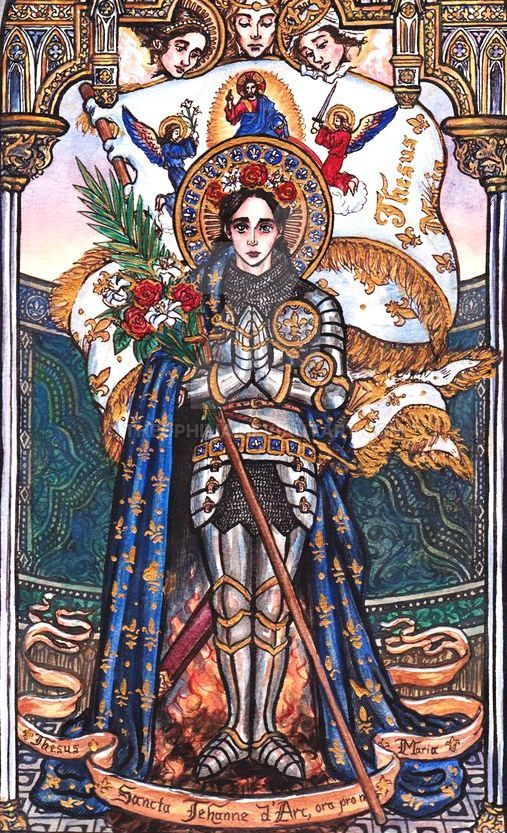 a biography of joan of arc a saint Joan of arc was a young woman who led the french army to victory over the british in a crucial battle during the hundred years' war check out this biography to know about her childhood, life, achievements & timeline.