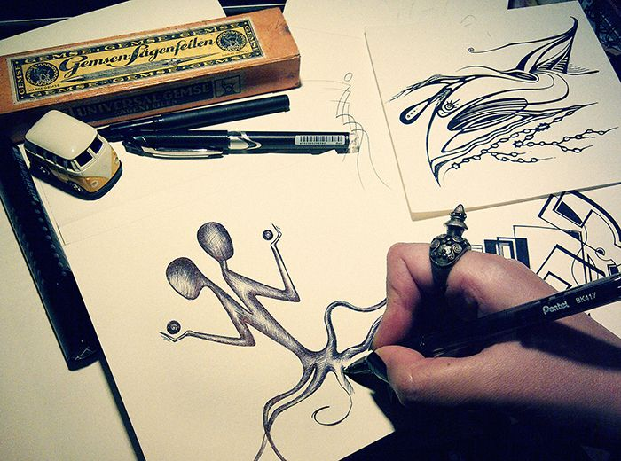 Sketches, Work in progress by Aynur Sfera Sky