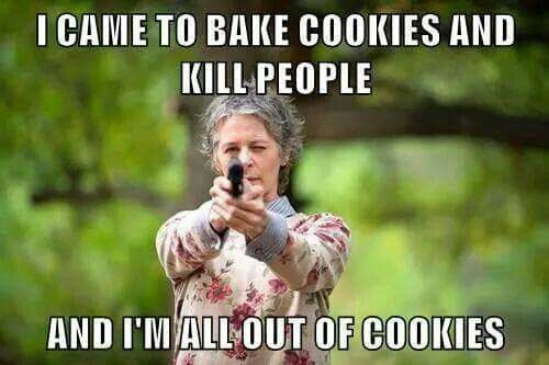 The Walking Dead. lol I have come to chew bubble gum and kick ass.. and I'm all out of bubblegum