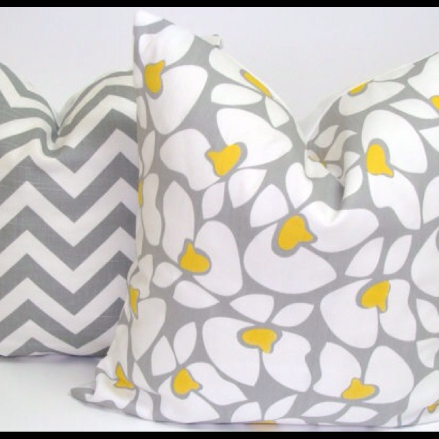 Gray and Yellow Pillows