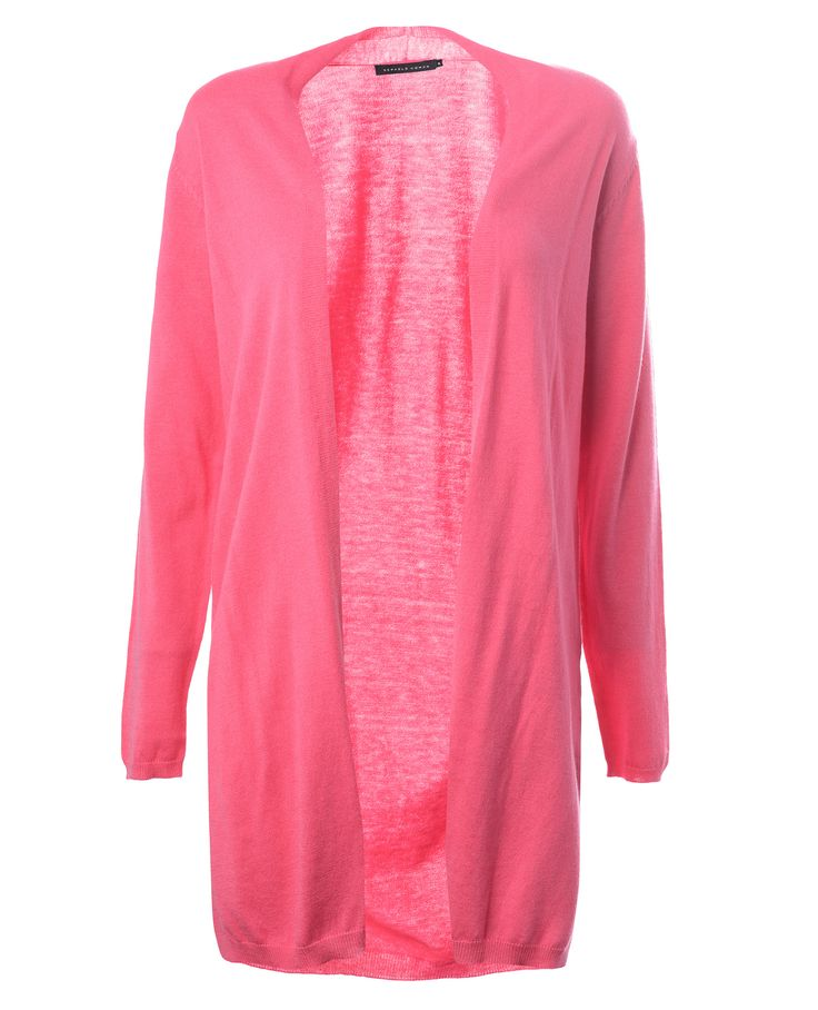 Kevään pirteä uutuus väri, pinkki! Löytyy ihanasta neuletakista.