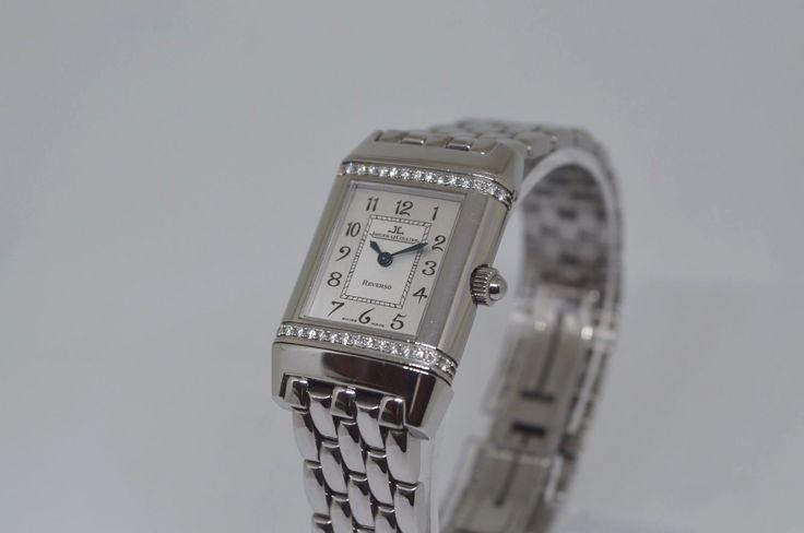 Jaeger-LeCoultre Reverso ref.198.0.411 Damenuhr Diamanten Lunette Edelstahl | eBay