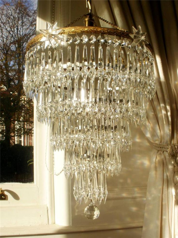 158 best chandeliers images on pinterest vintage french 5 tier spearhead icicle chandelier aloadofball Image collections