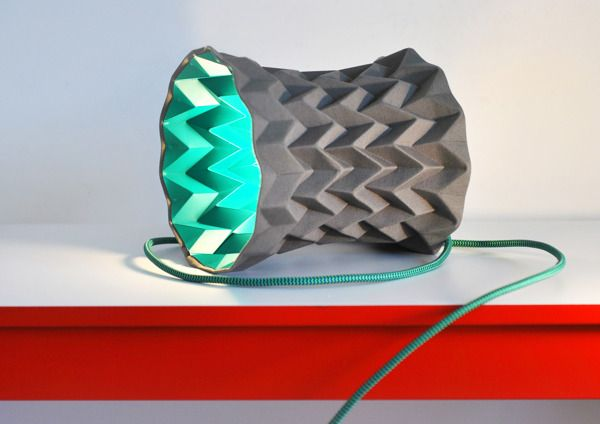Ribbed Lamps by Valeria Sergienko, via Behance