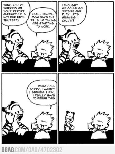 The last ever Calvin & Hobbes Comic. Super sad, but kinda real in many cases.
