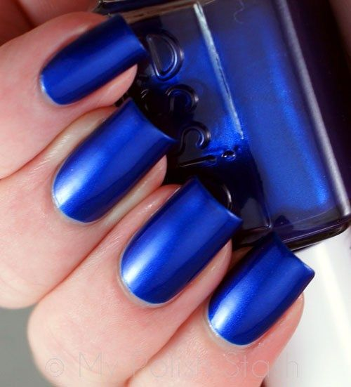 Essie Aruba Blue -- this is what my 6 year old picked out, now I have it on!