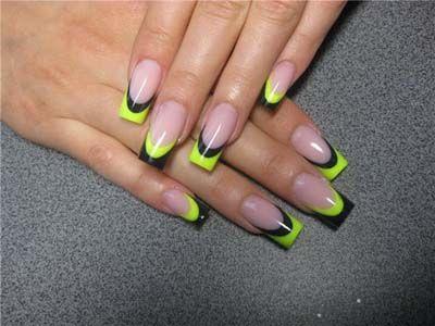 Neon Acrylic Nail Designs - Nails Designs Blog