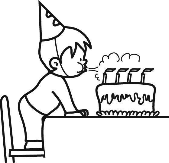 coloriage gâteau anniversaire - Recherche Google