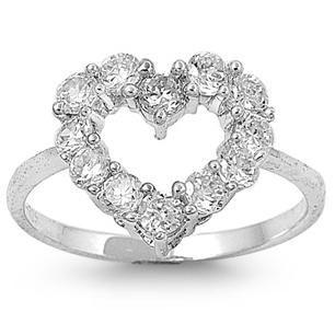 A Classic 2.2TCW Round Cut Heart Russian Lab Diamond Ring