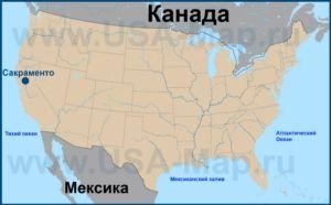 Сакраменто на карте США