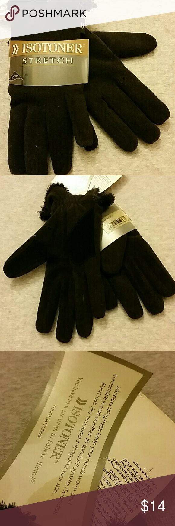 Mens gloves old navy - Isotoner Fleece Gloves Bnwt Advanced Spandex With Lycra Blend Soft Warm Microfiber Fleece