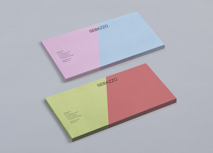 Logo and compliment slip with full colour edge to edge detail designed by Bunch for digital design studio Sebazzo