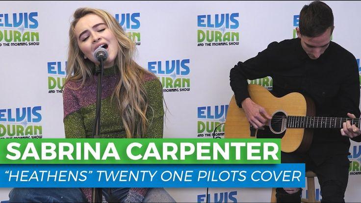 "Sabrina Carpenter - ""Heathens"" Acoustic Cover | Elvis Duran Live"