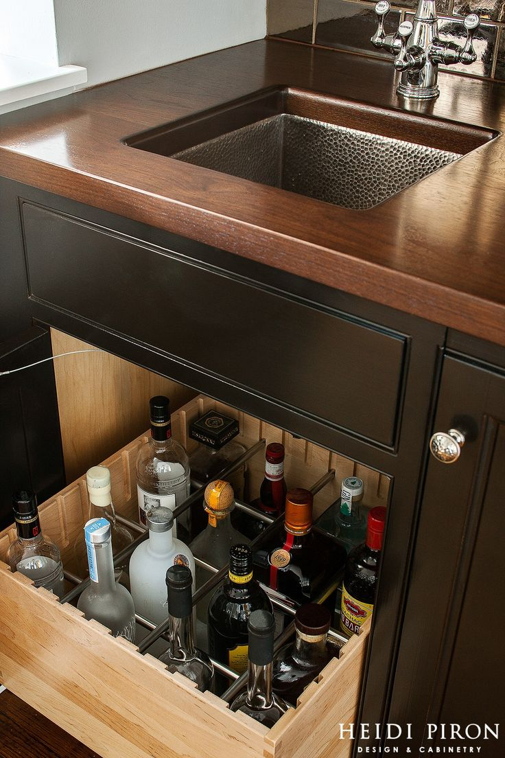 Wet Bar Bottle Organizer  - HouseBeautiful.com