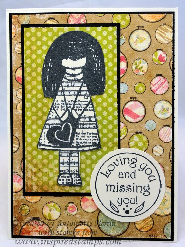 art; journal; cards; character card; January; Inspired Stamps; Bazzill; artwork at www.inspiredstamps.blogspot.com