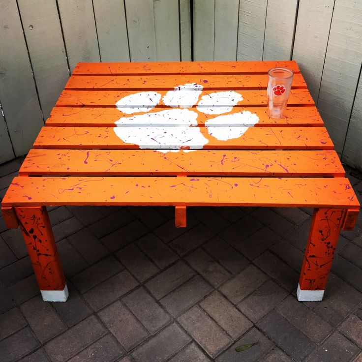 Paul from Carlsbad, CA using our Clemson Paw stencil! // Stencil Designs // DIY Projects // Wall Stencils // Letter Stencils