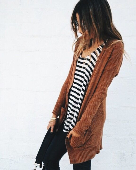 stripes + burnt orange