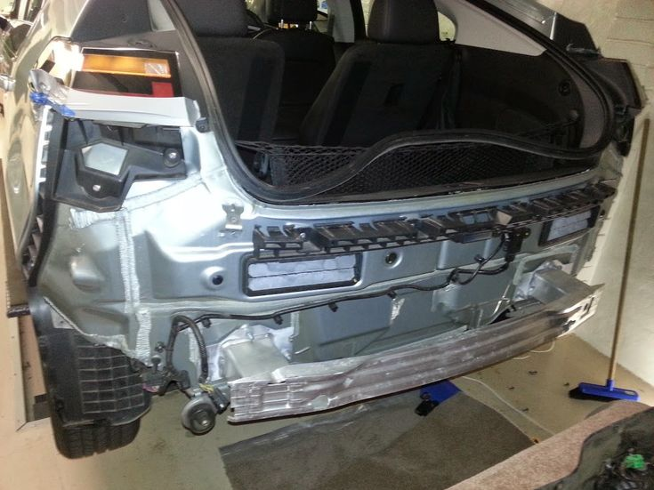 Holden Volt 2013 Rear bumper removal and updated camer install