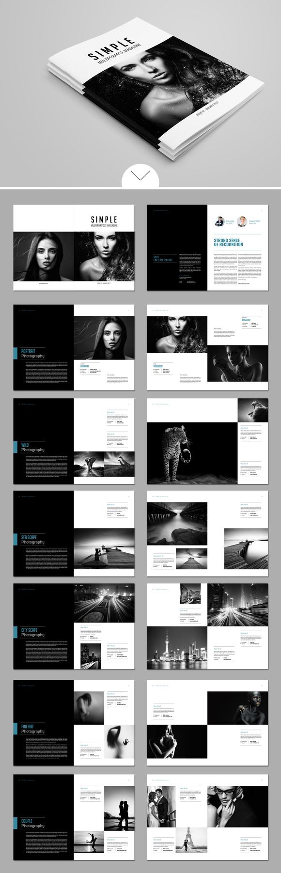 @newkoko2020 Simple Magazine Template by tujuhbenua on @creativemarket