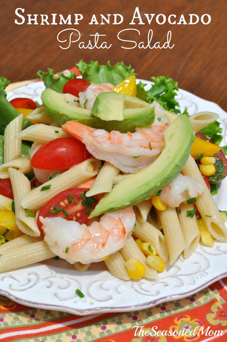 Shrimp and Avocado Pasta Salad | Recipe | Shrimp, Avocado and Pasta