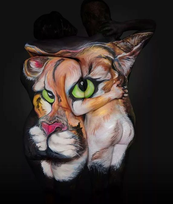 Best Body Art Images On Pinterest Body Paintings Gallery And - Artist turns humans amazing animal portraits using body paint