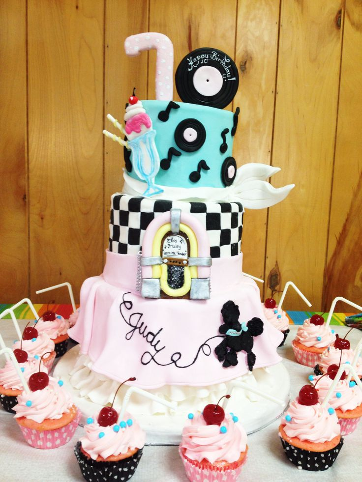 Retro Theme Cake Fun Recent Cake Projects Pinterest