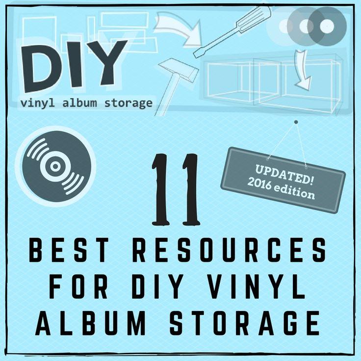 1000 images about lp records storage diy on pinterest for Diy vinyl storage