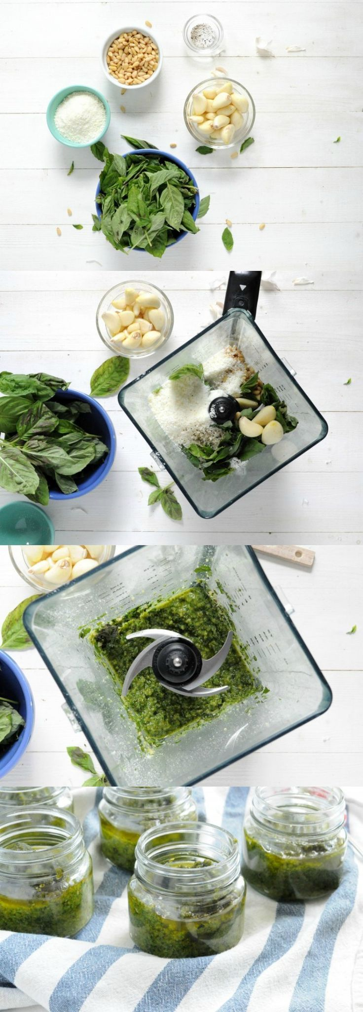 This classic pesto recipe uses loads of fresh basil, pine nuts, parm, and olive oil. It's savory and delicious - the best pesto recipe you'll find!