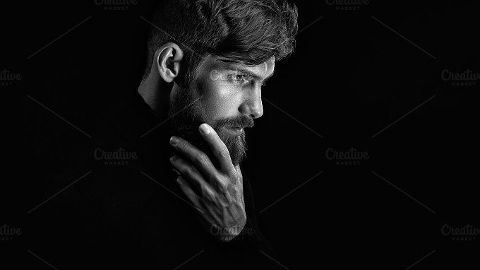 Attractive bearded man portrait by Usmanov Stock Photography on @creativemarket