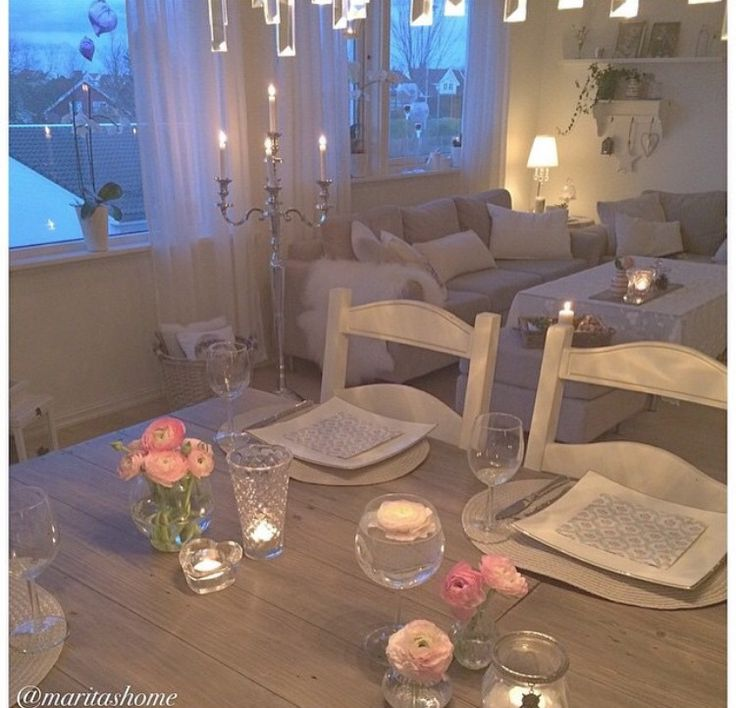Candle lit dinner is one way to increase romance after a baby! Love this