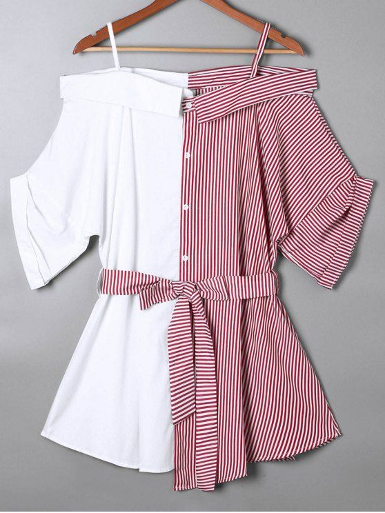 Back to school, back to saving! Free shipping worldwide! Off the Shoulder Pinstripe Blouse. zaful,zaful.com,tops,womens tops,long sleeves,long sleeve tops,blouse,blouses,blouse designs,blouse outfit,blouse outfit casual,blouse outfit summer,blouse pattern,blouses for women,Summer outfits:Top,Outfits,Blouses,Tees,T-shirt,Tank top,Crop top,Shirts,Off shoulder blouses,Off the shoulder tops @zaful Extra 10% OFF Code:ZF2017