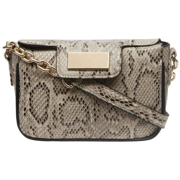 Dorothy Perkins snake animal crossbody bag (£8) ❤ liked on Polyvore  featuring bags