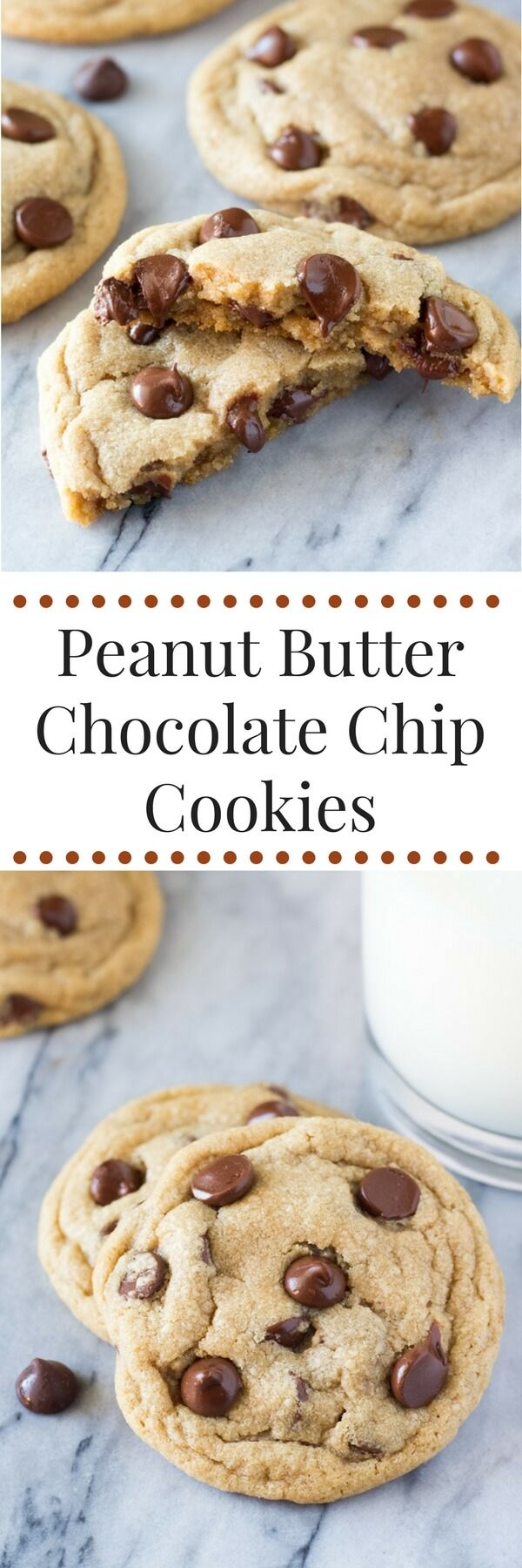Soft and Chewy Peanut Butter Chocolate Chip Cookies. These are so easy ...