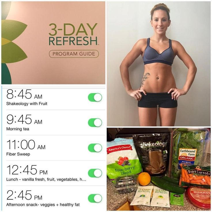 3-Day Refresh -Great tip! Set reminders on your phone, so you know when and what to eat!